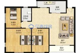 龍華地鐵口大三房,生活配套齊全