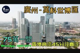 萬科世博匯_廣州 總價60萬 香港高鐵45分鐘直達 廣州南站步行800米 (實景航拍)